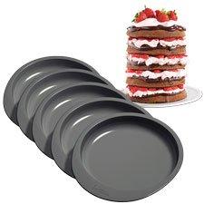 Wilton 6 in Cake Pan Set, 5 Pans