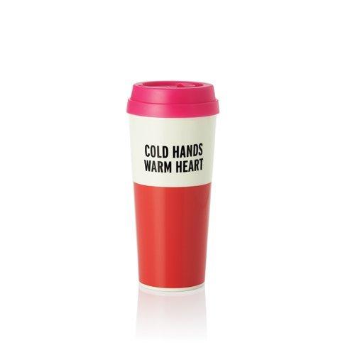 New Snap Spade - Kate Spade New York Thermal Mug, Cold Hands Warm Heart