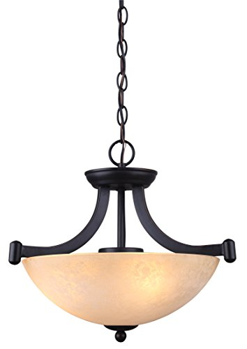 Dining Room Light Fixtures (Canarm ICH375A03RA14 3 Light Warren Dual Large Pendant Light Fixture)