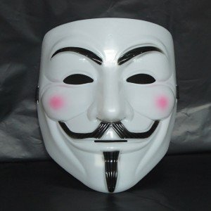 Anonymous Hackers Mask (adult size) (máscara/careta): Amazon.es: Juguetes y juegos