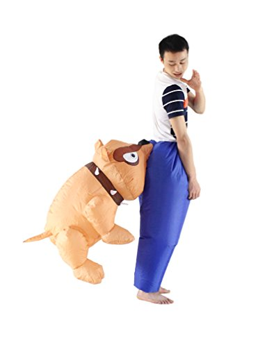 Inflatable Adult Carry On Bulldog Halloween Costume