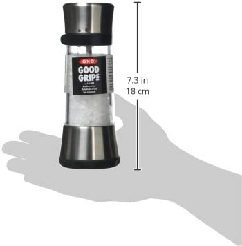 Macina pepe//sale in acciaio INOX colore: trasparente Oxo Good Grips Lua