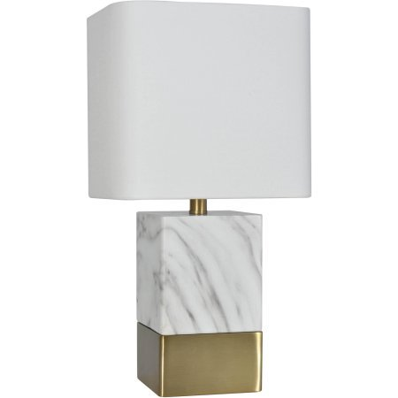 Table Lamp Gray And White Faux Marble Amazon Com