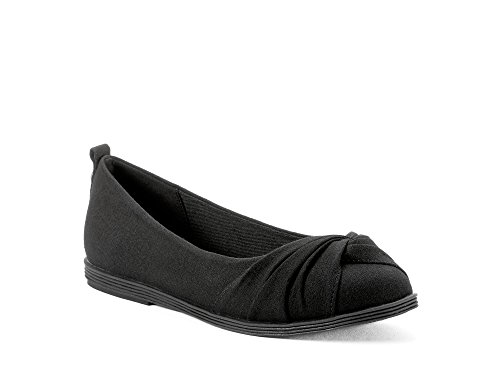 Indoor Casual Black Shoes Activity amp; for Womens Ballad Comfortable Outdoor Fall from Work Spring Perfect Fabric Walking Ballerina School Made Or Flat Or Textile Summer in wFax4