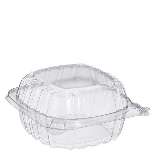 Dart C53PST1 OPS 5 in Clear Hinged Container, 5.3 X 5.4 in (Case of - Out Carry Containers Food Plastic