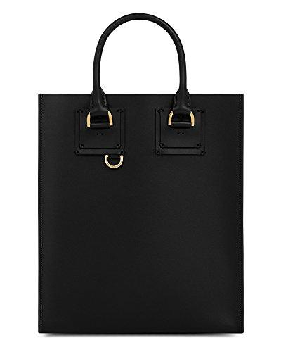 Sophie Hulme Borsa Shopping Donna BG261LPBLACK Pelle Nero