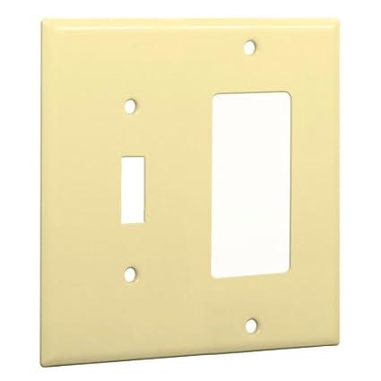 Taymac WI-TR Standard Metallic Wallplate with One Toggle, One ...