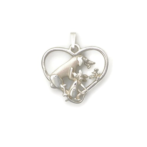 Sterling Silver Whimsical Cat (Sterling Silver Cat Necklace, Silver Labrador Retriever Necklace fr Donna Pizarro's Animal Whimsey Collection)