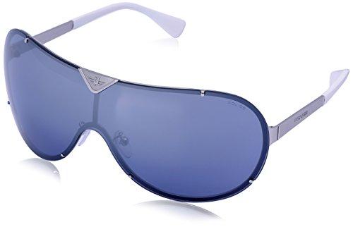 Police S8827M-688B Shield Sunglasses, Ruthenium,White & Grey, 99 - Police Men Sunglasses