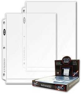 BCW 8x10 Photo Page 8x10 Photo Pages Photo Storage binder, Ultra Clear (COMINU038307) 1BBCW KDP Vendor 701756943