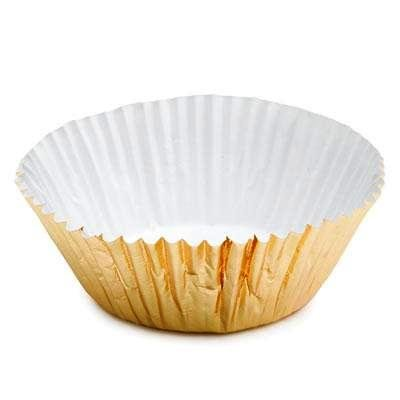 [CLEARANCE FREE STANDARD SHIPPING - 24 Foil Baking Cups Cupcake Liners - Gold - for Muffins / Cupcakes / Cake Pops - We Ship Within 1 Business] (Halloween Free Shipping)