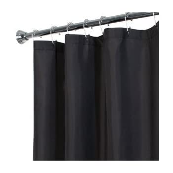 DINY Bath Elements Heavy Duty Magnetized Shower Curtain Liner Mildew Resistant Black