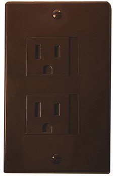 Self-Closing 2 Screw Outlet Covers 6-pack (Espresso) by Safety Innovations