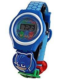 PJ Masks Kid's Blue Digital Watch with 3 Charms PJM4038