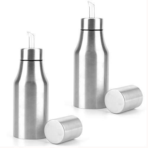 - Foraineam 2-Pack 17oz (500ML) Olive Oil Dispenser Bottle Stainless Steel Leakproof Olive Oil Container Kitchen Oil Bottles