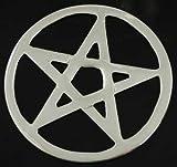 """3"""" Pentacle Cut Altar Tile - Color: Silver"""