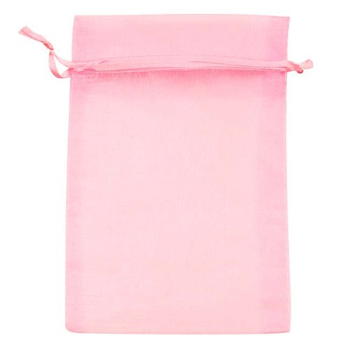 BeadaholiqueCA Organza Drawstring Gift Bags, 4 by 6-Inch, Light Pink BX1294 LP