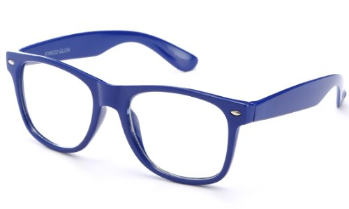 Clear Lens Fashion Fun Nerd Cosplay Geek Colors Rainbow Multi Color BUY 3 GET 50% - Buy Off 50% One Get One Sunglasses
