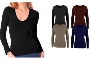VKA25 Pack 5 camisetas térmicas con interior de felpa mod. ANAIS cuello de pico - XL-XXL: Amazon.es: Ropa y accesorios