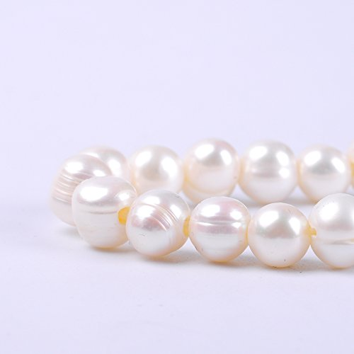 Ruilong AA+ Oval Rice Shape Natural Freshwater Pearl Beads For Jewelry Making (8-9MM) 8mm Aa Freshwater Pearl Necklace