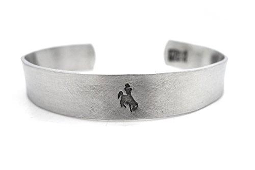 mens bracelet university of wyoming bucking (Bucking Horse)