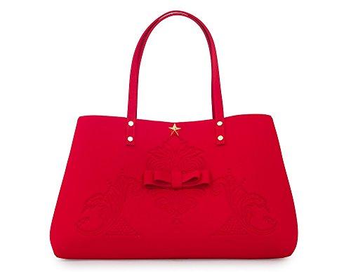 Shopping bag in neoprene LA FILLE DES FLEURS BORSA marion Lycra 35X35X14