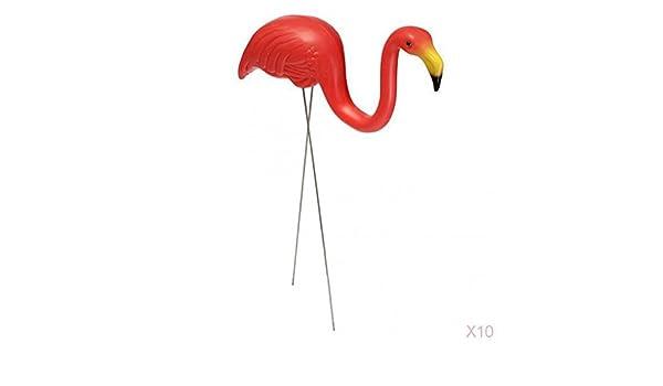 Compra FLAMEER Adornos De Plástico Rojo Jardín De Césped Flamenco Jardín Adornos Decoración De La Planta Baja en Amazon.es