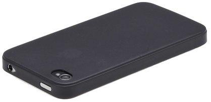 itronik® 0,35mm Ultra Slim flacher Bumper - die dünnste flexible Schutzhülle für Apple iPhone 4 4G 4S - Bumpers Case Hülle Schale Schutz Tasche - schwarz black