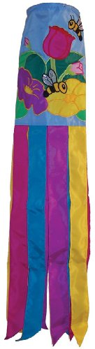 In the Breeze Floral Bee Windsock, 40-Inch