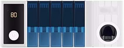 LEZDPP Toothbrush Sterilizer Drying Smart Toothbrush Holder Free Punch Multifunctional Mouthwash Cup Rack Shelf