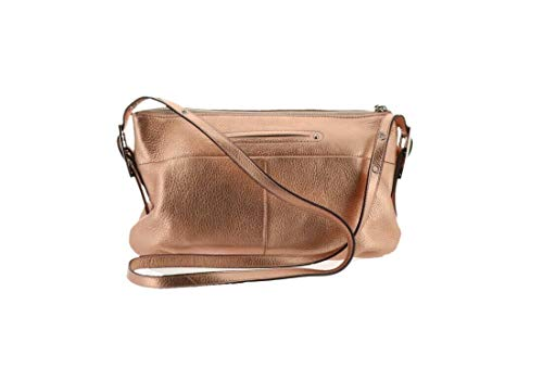 B. MAKOWSKY Leather East West Crossbody Bag Rose/Gold for sale  Delivered anywhere in USA