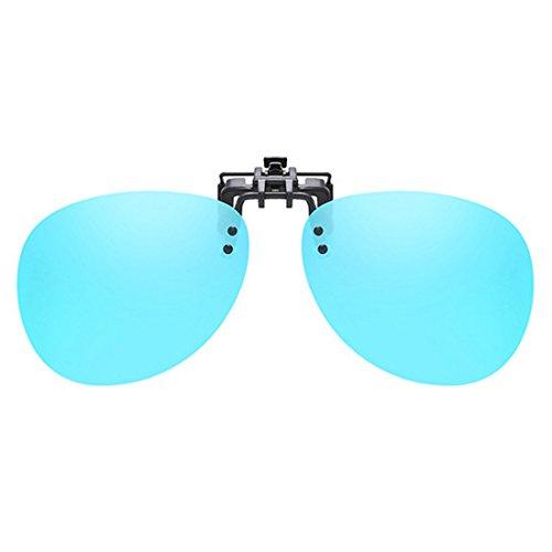 Glace Clip on Unisexe Polarized Huicai UV400 soleil Lunettes Bleue soleil de Lunettes de cadre conduite sans de BZqwYHwR