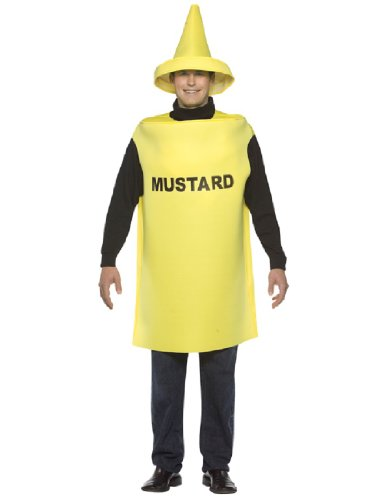 Rasta Imposta Lightweight Mustard Costume, Yellow, One Size (Ketchup And Mustard Costume)