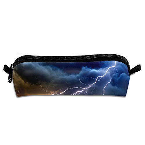 Kui Ju Pencil Bag Pen Case Lightning Storm Cosmetic Pouch Students Stationery Bag Zipper Organizer