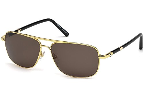 ddbf22a721 Sunglasses Montblanc MB 508S MB508S 30E shiny endura gold   brown