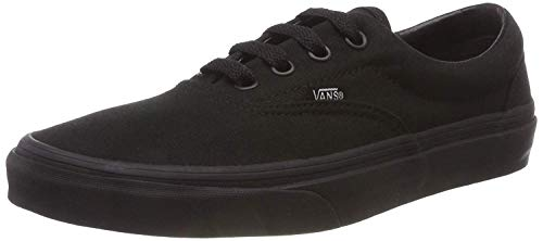 Vans Unisex's ERA Black Black Skate Shoes 8 Men US / 9.5 Women US (Black/Black) (Wide Vans Men Shoes)