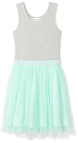 Spotted Zebra Toddler Girls' Tutu Tank Dress, Grey/Mint Green, 4T