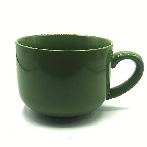 24 ounce Extra Large Latte Coffee Mug Cup or Soup Bowl with Handle - Green Olive