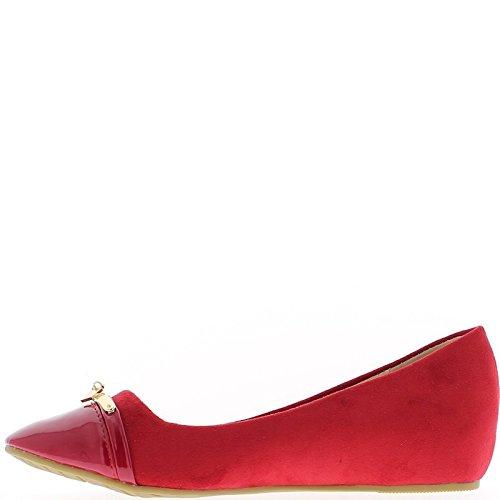 Tacón bailarinas desvío rojo 4cm
