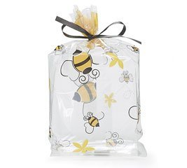 Bumble Bee Treat Bag - Buzz Bumble Bee Birthday Party Baby Shower Favor Treat Cello Bags 7x3x2 (100)