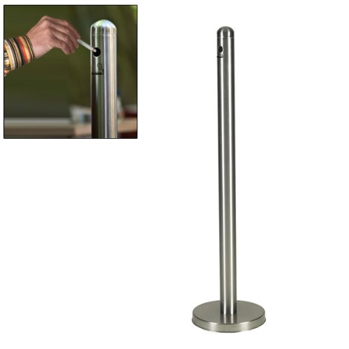 American Metalcraft Brushed Stainless Steel Smoker Pole and Base, 15 inch Diameter - 1 each.
