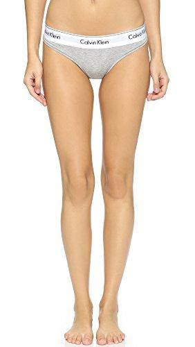 Calvin Klein Underwear Women's Modern Cotton Thong, Heather Grey, X-Small