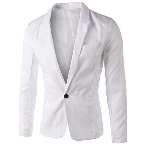 Slim Hombre Traje Blazer Chaqueta Coreano Elegante Con White De Fit Para Estilo 75fxxqE