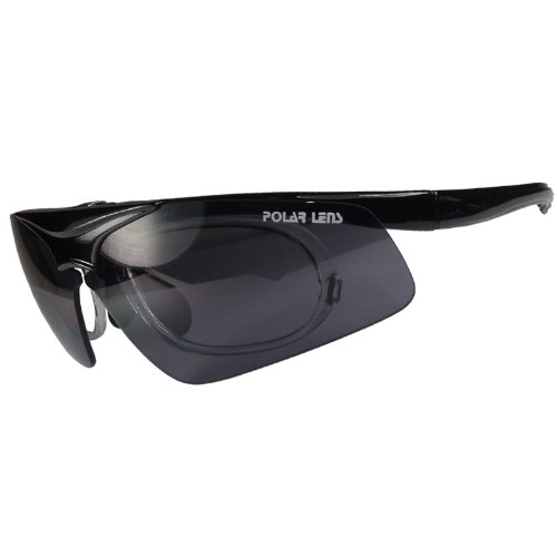 Polarlens PT5 German Engineered Multi Sport Sunglasses with Corrective Lens Insert for Cycling, Running, Baseball and Other Outdoor Sports - Prescription Insert Sunglasses
