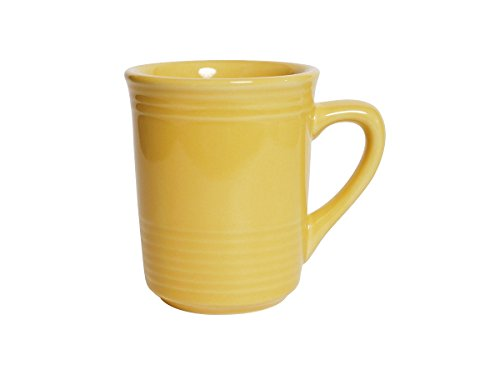 Tuxton CSM-085 Vitrified China Concentrix Gala Mug, 8 oz, Saffron (Pack of 24), Oven-Microwave-Pressure Cooker Safe; Freezer to Oven Safe (Mug Saffron)