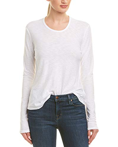 James Perse Womens Crewneck Slub Jersey T-Shirt, 0, ()