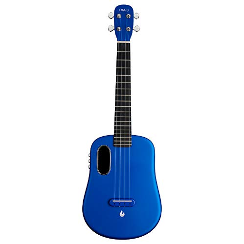 LAVA U, Carbon Fiber Ukulele, 26-inch,Play with effects without plugging in, Acoustic Electric Ukulele by LAVA MUSIC (FreeBoost, Sparkle Blue, 26-inch)