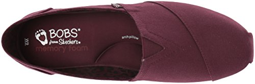 Skechers BOBS from Women's Plush-Peace and Love Ballet Flat, Burgundy, 8.5 M US by Skechers (Image #7)