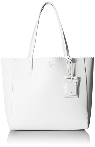 kate spade new york Cape Drive Hallie Tote Bag, Bright White/Porcelain, One Size