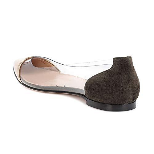 Piatte Punta Scarpe Scarpe Scarpe Donna Scarpe Marrone Zeppa Basse Lavoro Sneakers A ASHOP Estive Morbida Donna Da Donna Più pqqOgI
